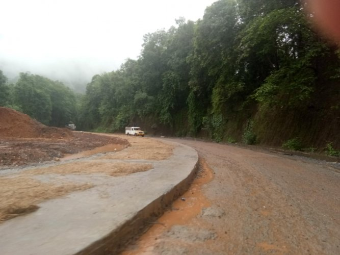 Work on three stretches in the Shiradi Ghat area is pending.