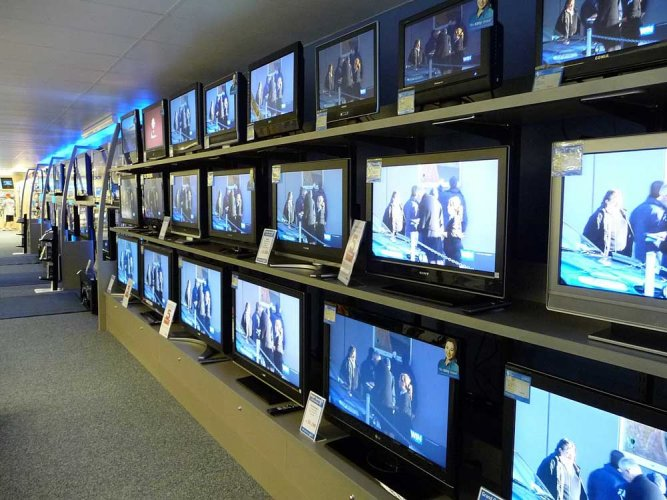 To attract soccer fans, TV makers have launched new large screen size models in the market and have also come out with attractive financing schemes. (DH file photo)