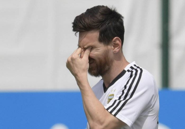 TIME TO DELIVER: Lionel Messi, who has had a disappointing World Cup so far, will be desperate to score and hope to power a broken Argentina into the knock-outs. AFP