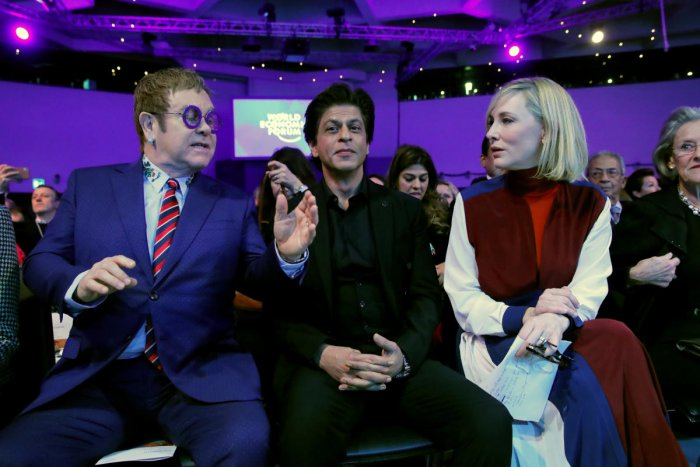 Actor Cate Blanchett, actor Shah Rukh Khan and singer Elton John. Reuters File Photo