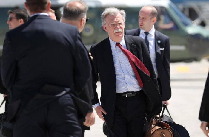 U.S. National Security Adviser John Bolton held talks in Moscow on Wednesday with Russian officials ahead of a meeting with Vladimir Putin, part of an effort to lay the ground for a summit between the Russian president and President Donald Trump. (Reuters Photo)