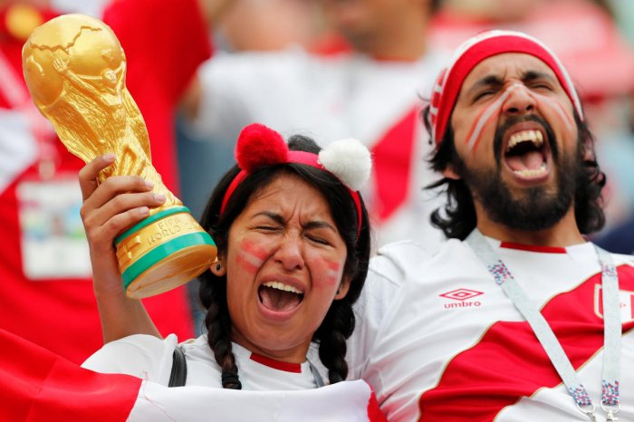 Joie de vivre Peru travelling army of fans turned the stadiums into a party atmosphere with their songs, dances and drum beats. REUTERS