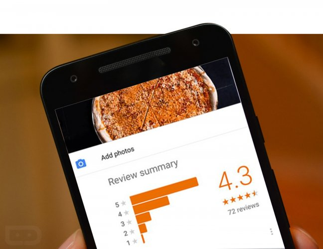 Google asks you to review a restaurant even when you are in the vicinity.