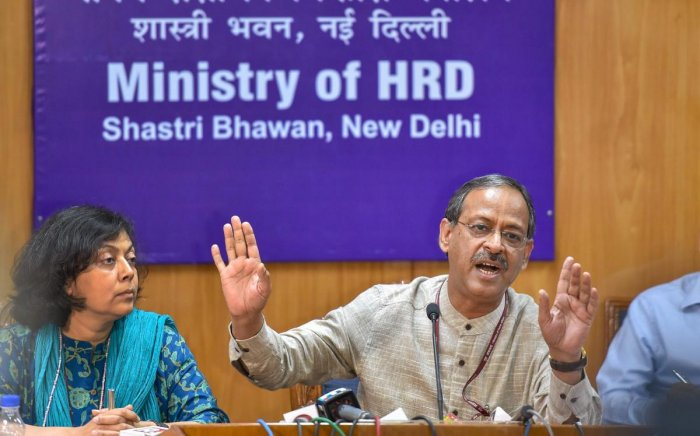 Education Secretary Anil Swarup during a press conference. (PTI file pic)