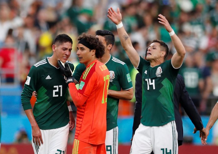 SUDDEN SHOCK Mexico, who showed great verve during their wins over Germany and South Korea, were caught napping by a spirited Sweden on Wednesday. REUTERS