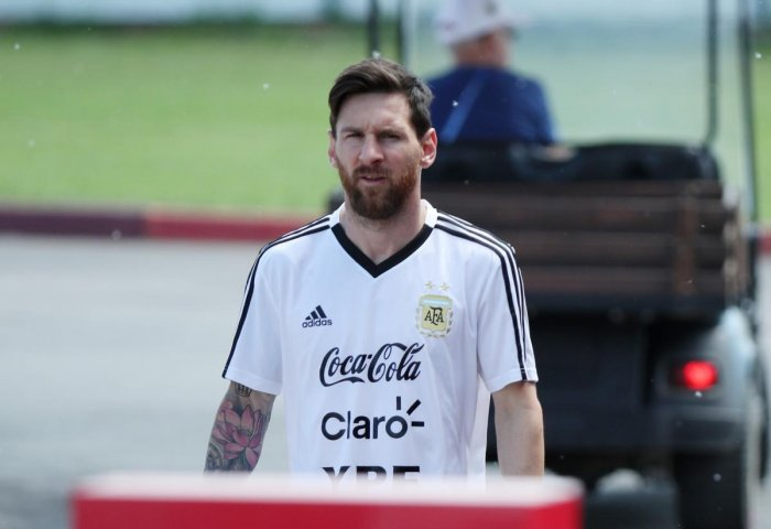 TOUGH ROAD AHEAD: Argentina's Lionel Messi has had a slow start to the World Cup. Reuters