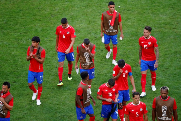 Costa Rica finished bottom of Group E with just one point to exit the tournament. Reuters