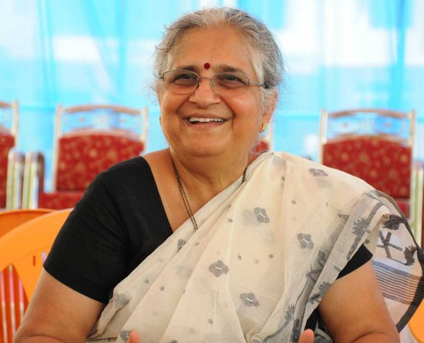 "For the ""mature writer"" that Murthy considers herself to have become with time, scaling down to a child's level of understanding to create a perpetually hunky-dory world, has always felt like a task. (DH file photo)"