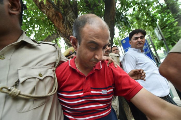 Major Nikhil Handa was arrested on June 24 from Meerut in Uttar Pradesh for his alleged involvement in the killing of another Major's wife in west Delhi. (PTI Photo)