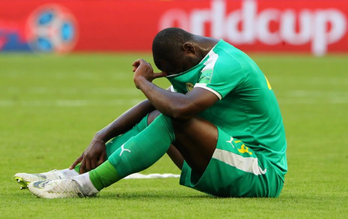 SHOCKED: Senegal's exit on Thursday capped a disappointing World Cup for African nations where none could make it past the group stage. REUTERS