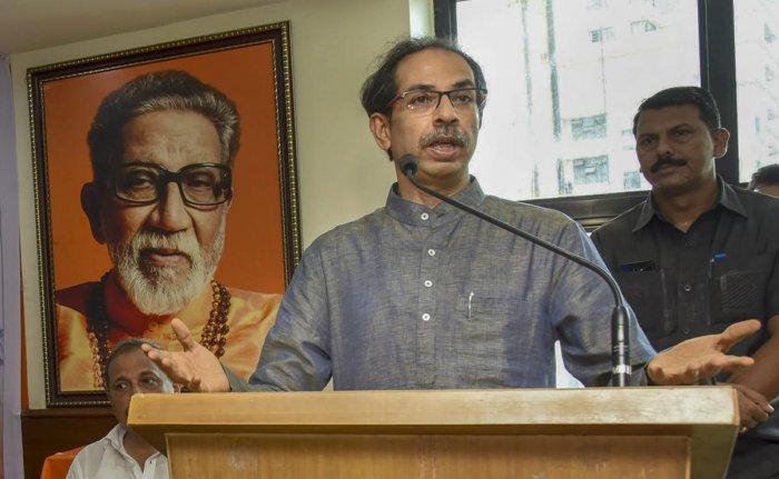 Shiv Sena President Uddhav Thackeray. PTI Photo