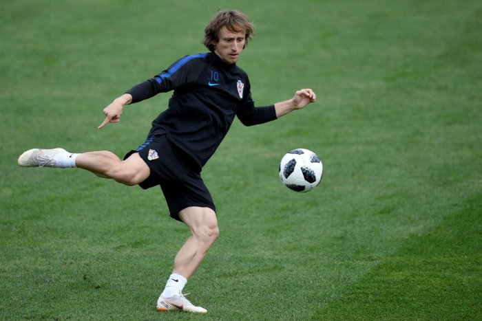 GENIUS: Croatia skipper Luka Modric will be eyeing another dazzling show against Denmark on Sunday. AFP