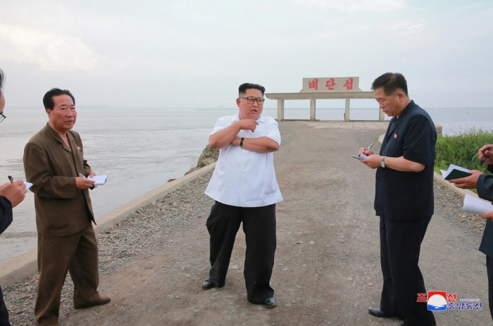 North Korea leader Kim Jong Un visits Sindo County, North Phyongan Province in this undated photo released by North Korea's Korean Central News Agency (KCNA) June 30, 2018. KCNA/via Reuters