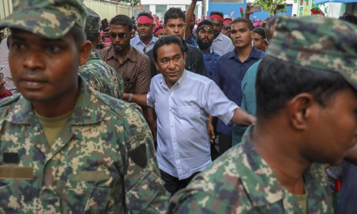 President Yameen. AP/PTI file photo.