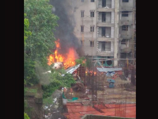 A day after an aircraft crashed into an under-construction building in Ghatkopar here, CCTV footage has emerged showing the intensity of the impact. DH photo