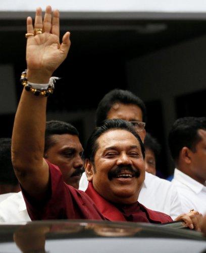 Sri Lanka's former President Mahinda Rajapaksa. Reuters file photo