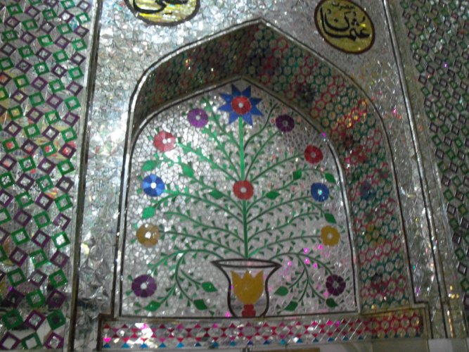 Floral designs inside Hazrat Badruddin Arif's dargah in Belagavi