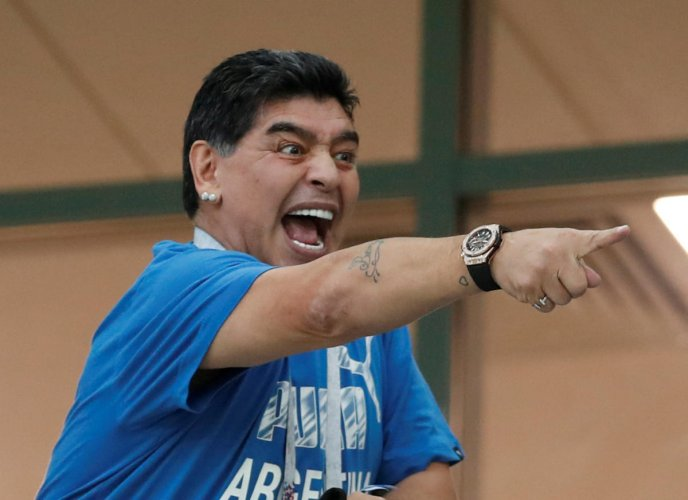 FIFA on Thursday slammed Diego Maradona for his insinuating comments about referee Mark Geiger. Reuters