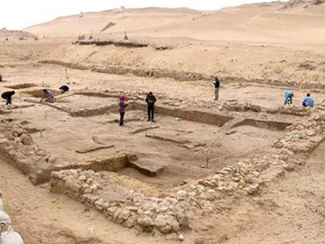 "The two residences are located in what is believed to be ""the national port of its time,"" with goods and materials coming in from all over Egypt and the eastern Mediterranean, researchers said. Image courtesy Twitter"