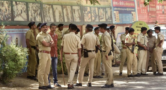 Sharafat Ali, who had allegedly shared a prison cell with Prajapati and two others, deposed before Judge S J Sharma of the special CBI court here. (Above: PTI file photo of Gujarat police for representational purpose.)