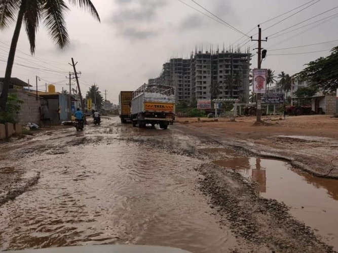 Residents demand the quick revival of the damaged road, connecting Channasandra and Thirumalashettyhalli in East Bengaluru.