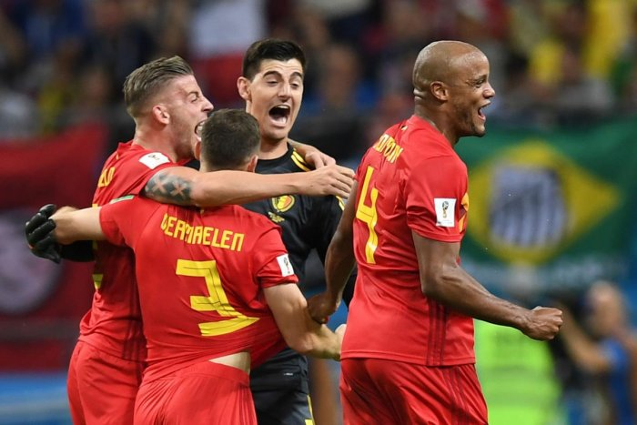 ON A ROLL: Belgium's daring approach has helped them pull off some big wins this World Cup. AFP