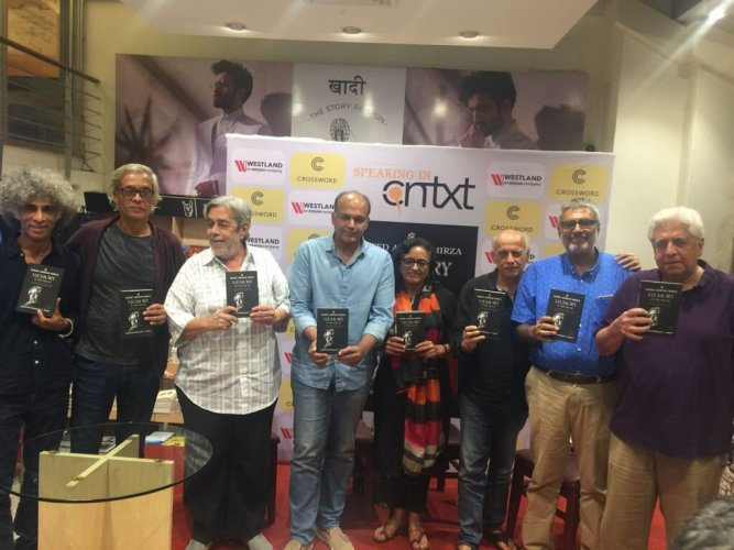 The director, known for films such as 'Mohan Joshi Hazir Ho!', 'Albert Pinto Ko Gussa Kyoon Aata Hai', 'Salim Langde Pe Mat Ro' and 'Naseem', was speaking at the launch of his book, 'Memory In The Age Of Amnesia: A Personal History Of Our Times' in Mumbai. (Image tweeted by Mahesh Bhatt)