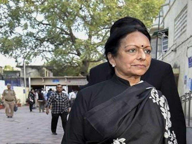 Former union minister P Chidambaram's wife Nalini, PTI file photo