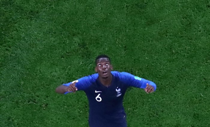 France's Paul Pogba celebrates at the end of the match. (Reuters Photo)