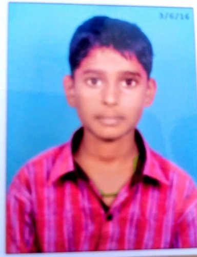 High school student Mallika (16) who died in javelin throw accident in Haveri, on Wednesday. DH photo