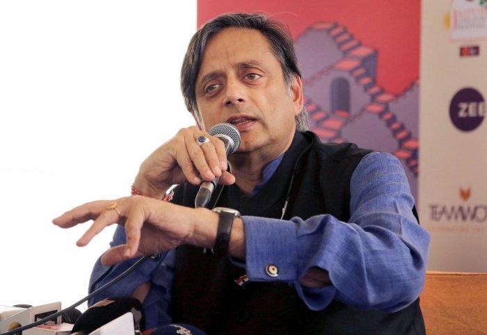 Congress leader Shashi Tharoor. PTI File photo