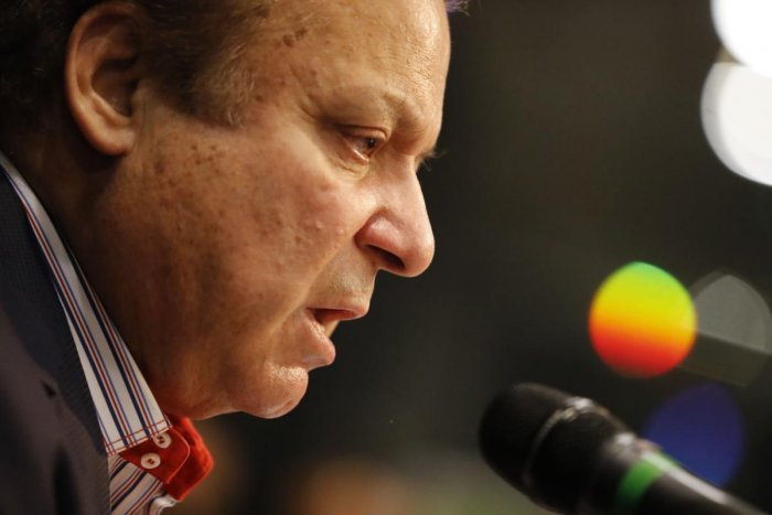 Sharif, who is currently in London to tend to his ailing wife Kulsoom, is expected to return to Pakistan on Friday, days after being sentenced to 11 years in prison by an anti-corruption court in the Avenfield properties case. (AFP Photo)