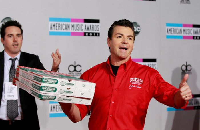 John Schnatter, founder and CEO of Papa John's Pizza, arrives at the 2011 American Music Awards in Los Angeles. Reuters file photo