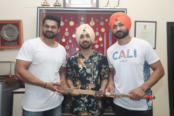 Sandeep Singh Soorma (right). Twitter photo