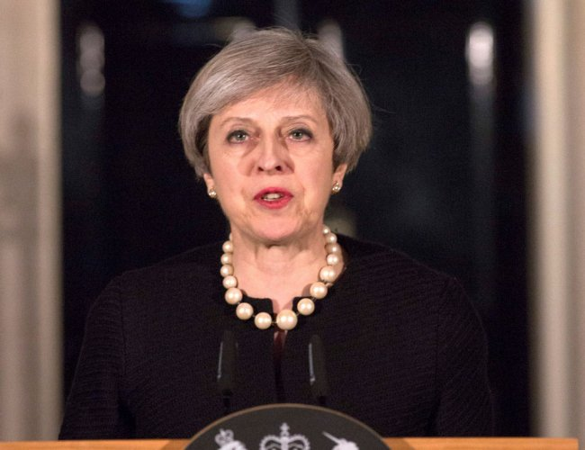 Theresa May will publish details of her long-awaited Brexit plan to restart talks with the EU. PTI file photo.