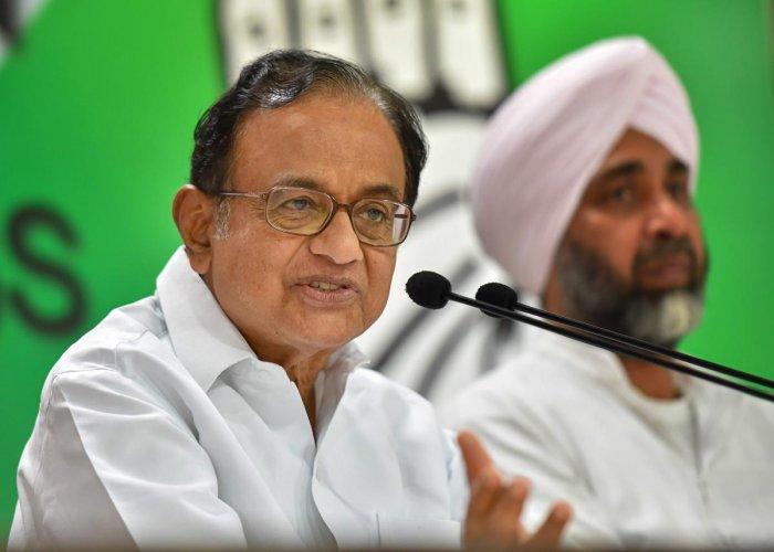 Former finance minister P Chidambaram. (PTI File Photo)