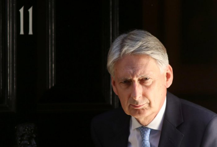 Britain's Chancellor of the Exchequer Philip Hammond. (Reuters Photo)