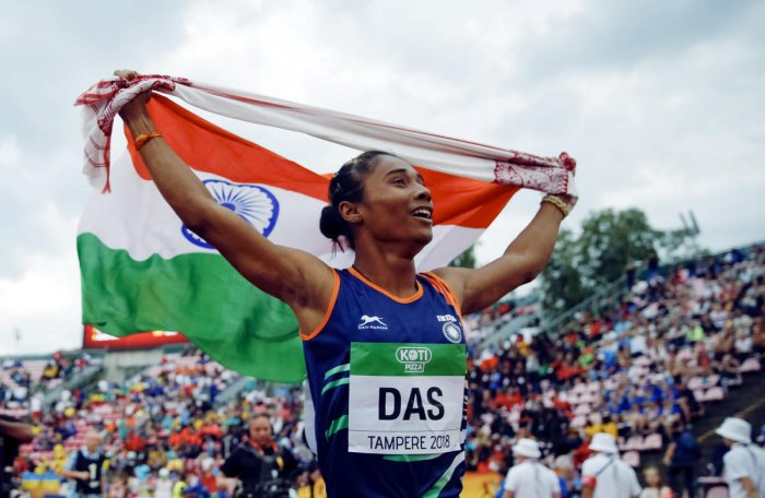 The 18-year-old Hima Das, a pre-tournament favourite, clocked 51.46s to win the gold, which triggered a wild celebration at the Indian camp. This was though not her personal best as she had clocked 51.13 last month in Guwahti at the National Inter State C