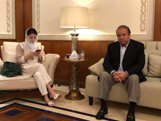 Sharif and Maryam are expected to land at Lahore's Allama Iqbal International Airport at 6.15 PM (local time) via Abu Dhabi on Etihad Airways flight EY243, the Dawn reported. (ANI Photo)
