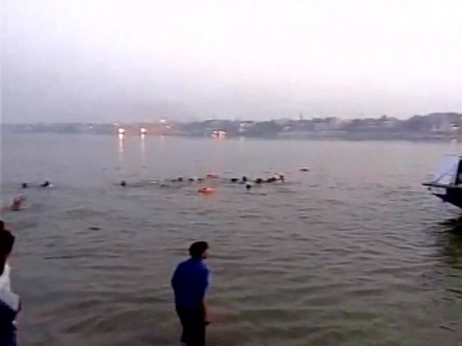 The boat was en route to Saladivari Palem from Pasuvullanka when the mishap occurred on Saturday evening. As the river was in spate, the water was swirling, making the boat movement unstable, a senior official of the State Disaster Management Department here said. File photo for repesentation