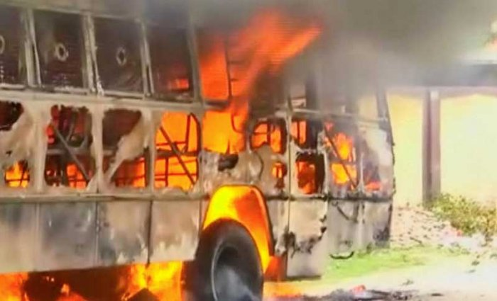 The incident occurred this morning when the bus was going to Delhi from Haridwar, a police official said. Reuters file photo for representation.