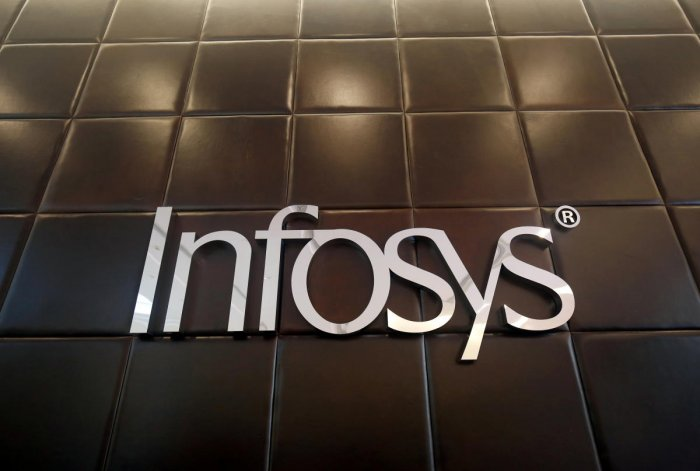 The logo of Infosys is pictured inside the company's headquarters in Bengaluru. Reuters file photo