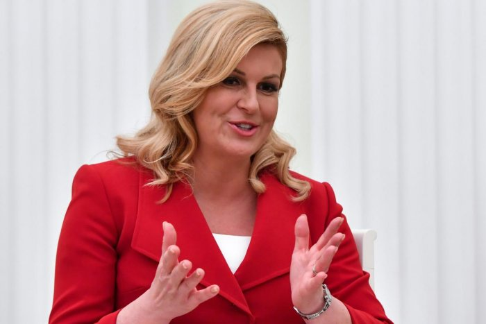 In an interview with The Associated Press yesterday, Croatian President Kolinda Grabar-Kitarovic also shrugged off US President Donald Trump's aggressive behavior with NATO allies at a meeting on Wednesday and Thursday. Reuters photo.