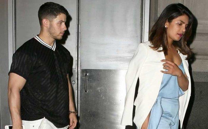 Indian star Priyanka Chopra and singer Nick Jonas were spotted enjoying a dinner date in London. PTI file photo
