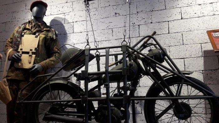 Flying Flea motorcycle in Garage Cafe