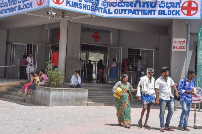 The protesting members on Tuesday set up an OPD outside the KIMS hospital to treat patients.