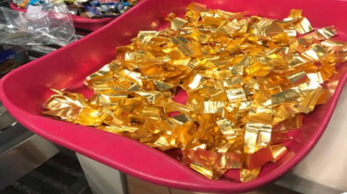 Caught it: Customs officials at the Kempegowda International Airport seized gold weighing 384.1 gm, worth Rs 11.8 lakh, from a passenger on Thursday.