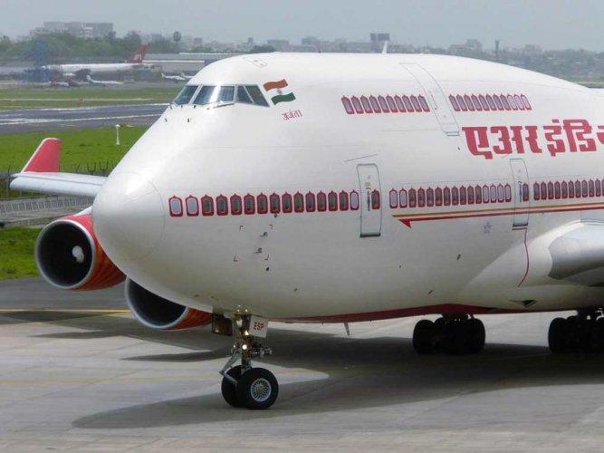 Air India flight, file photo