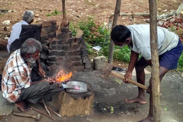 A foundry near Srinivaspur in Kolar district.