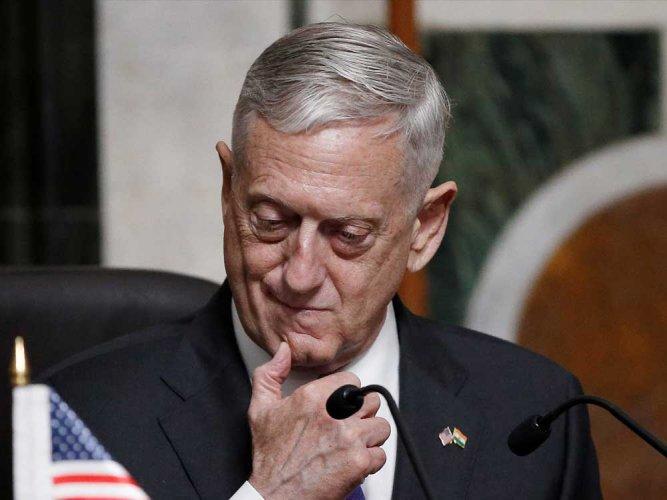 In picture:US Defense Secretary Jim Mattis. Reuters.